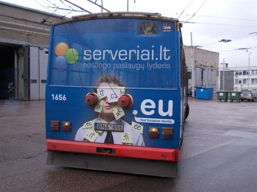 Troleibuso galas su serveriai.lt reklama