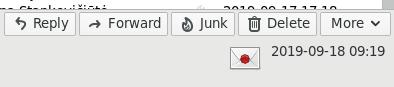Ekrano nuotrauka kaip išsiskiria pasirašytas laiškas Thunderbird programoje