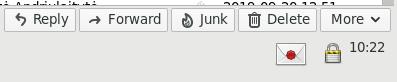 Ekrano nuotrauka kaip atrodo šifruotas laiškas Thunderbird programoje