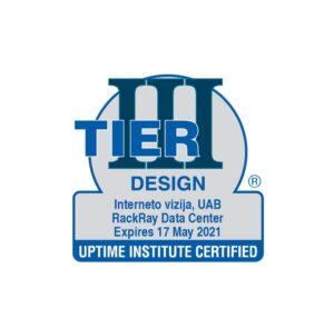 Tier 3 sertifikato antspaudas su įmonės rekvizitais