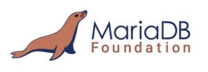 MariaDB logotipoas su ruoniu