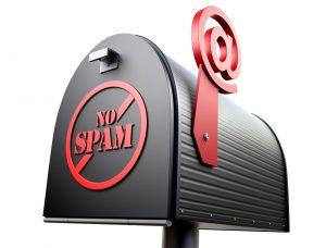 Pašto dėžutė su užrašu NO SPAM
